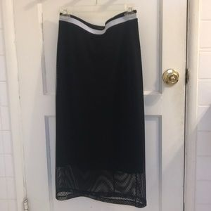 Trouvè Midi Fishnet skirt